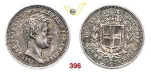 CARLO ALBERTO  (1831-1849)  25 Centesimi ...