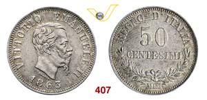 VITTORIO EMANUELE II  (1861-1878)  50 ...