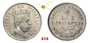UMBERTO I - monetazione per l'Eritrea  ...