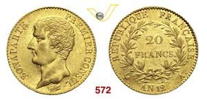 NAPOLEONE I, Console  (1799-1804)  20 ...
