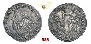 CLEMENTE VII  (1523-1534)  Doppio Carlino ...