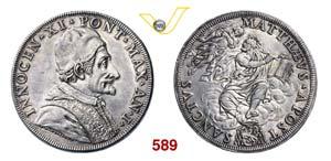 INNOCENZO XI  (1676-1689)  Piastra A. I, ...