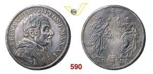 ALESSANDRO VIII  (1689-1691)  Piastra A. I, ...