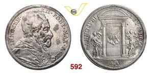 INNOCENZO XII  (1691-1700)  Piastra 1700 A. ...