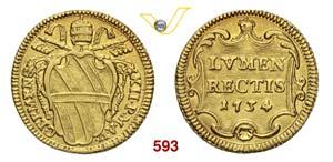 CLEMENTE XII  (1730-1740)  Scudo doro 1734 ...
