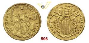 BENEDETTO XIV  (1740-1780)  Zecchino 1754 A. ...
