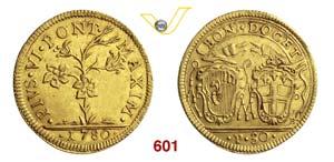 PIO VI  (1775-1799)  Doppia o 30 Paoli 1780, ...
