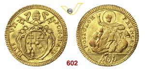PIO VII  (1800-1823)  Doppia A. IV Roma.   ...