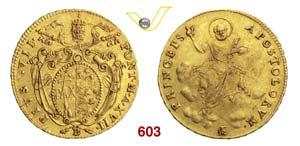 PIO VII  (1800-1823)  Doppia A. XVII ...