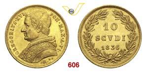 GREGORIO XVI  (1831-1846)  10 Scudi 1836 VI, ...
