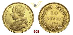 GREGORIO XVI  (1831-1846)  10 Scudi 1841 XI, ...