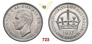 AUSTRALIA  GIORGIO VI    Corona 1937.   Kr. ...