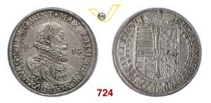 AUSTRIA  MASSIMILIANO  (1590-1618)  Tallero ...