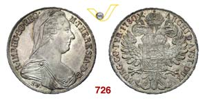 AUSTRIA  MARIA TERESA  (1740-1780)  Tallero ...