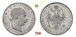 AUSTRIA  FRANCESCO GIUSEPPE  (1848-1916)  2 ...
