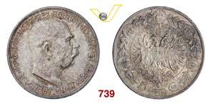 AUSTRIA  FRANCESCO GIUSEPPE  (1848-1916)  5 ...