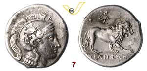 LUCANIA - Velia  (300-280 a.C.)  Statere.  ...