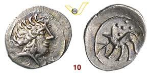 CELTI    (III-II Secolo a.C.)  Litra.  D/ ...