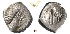 CELTI  GLI INSUBRI  (175-100 a.C.)  Dracma.  ...