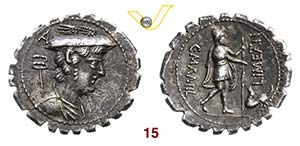 MAMILIA - C. Mamilius Limetanus  (82 a.C.)  ...