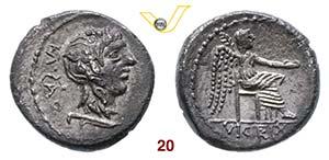 PORCIA - M. Porcius Cato  (89 a.C.)  ...