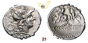 SERVILIA - C. Servilius M.f.  (136 a.C.)  ...