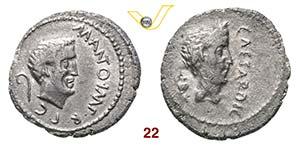 MARCANTONIO e GIULIO CESARE  (43 a.C.)  ...