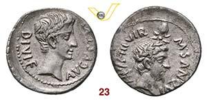 AUGUSTO  (27 a.C.-14 d.C.)  Denario, ...