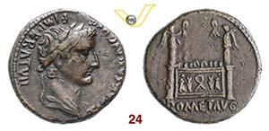 TIBERIO, Cesare  (4-14)  Dupondio.  D/ Testa ...