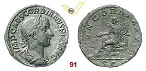 GORDIANO III PIO  (238-244)  Sesterzio.  D/ ...