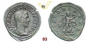 FILIPPO I LARABO  (244-249)  Sesterzio.  D/ ...