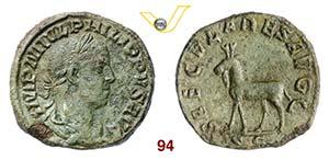FILIPPO II  (247-249)  Sesterzio.  D/ Busto ...