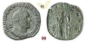 VALERIANO I  (253-260)  Sesterzio.  D/ Busto ...