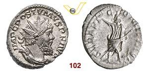 POSTUMO  (259-268)  Antoniniano.  D/ Busto ...