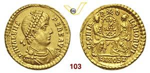 VALENTE  (364-378)  Solido, Antiochia.  D/ ...