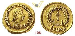 VALENTINIANO III  (425-455)  Tremisse, ...