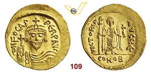 FOCAS  (602-610)  Solido, Costantinopoli.  ...
