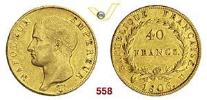 NAPOLEONE I    40 Franchi 1806 U, Torino.   ...