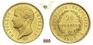 FRANCIA - Napoleone I  (1805-1814)  20 ...