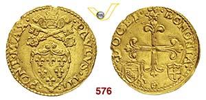 PAOLO III  (1534-1549)  Scudo doro del ...