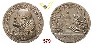 CLEMENTE VIII  (1592-1605)  Med. 1600 A. ...