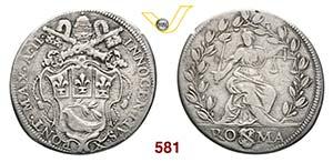 INNOCENZO X  (1644-1655)  Testone A. II, ...