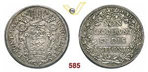 INNOCENZO XI  (1676-1689)  Piastra s.d., ...