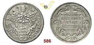 INNOCENZO XI  (1676-1689)  Testone 1686 A. ...