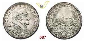 ALESSANDRO VIII  (1689-1691)  Testone 1690 ...