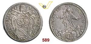 ALESSANDRO VIII  (1689-1691)  Testone s.d., ...
