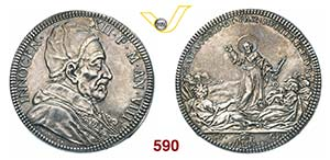 INNOCENZO XII  (1691-1700)  Piastra 1698 A. ...