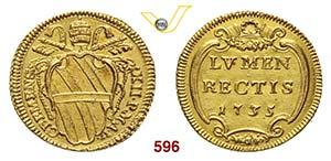 CLEMENTE XII  (1730-1740)  Scudo doro 1735 ...