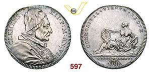 CLEMENTE XII  (1730-1740)  Testone 1736 A. ...