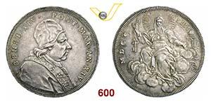 BENEDETTO XIV  (1740-1758)  Scudo romano ...